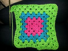 Green blue n pink square