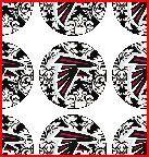 Atlanta Falcons Inspired black and white Damask by glendasgifts, $2.00