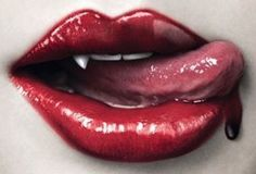 True Blood Lips licking up a drop of Blood ♥♠♥♠