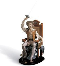 01001522  I AM DON QUIXOTE   Issue Year: 1987  Sculptor: Salvador Furió  Size: 74x46 cm  Base included