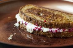 Smashed raspberry grilled cheese