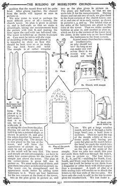 Free Church Paper Model Template | Cardboard House Patterns | Plush Possum Studio: Family Fun Project: A ...