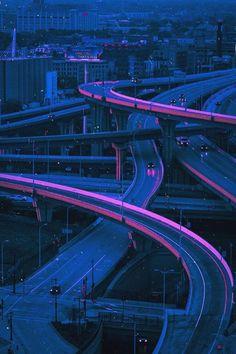 Dark Purple Aesthetic, Neon Aesthetic, Night Aesthetic, Aesthetic Collage, Summer Aesthetic, Cyberpunk Aesthetic, Cyberpunk City, Purple Tumblr, Tumblr Neon