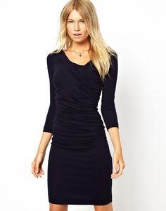 MANGO Wrap Ruched Dress on shopstyle.com