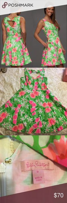 Lilly🌴 Freja Dress Sz 8 in Everything Nice Vibrant and Neon Lilly Pulitzer Freja dress in size 8. Worn once but in excellent condition, no signs of wear. Love the twist detail on the back! High enough that you can still wear a normal bra bra but so special Lilly Pulitzer Dresses