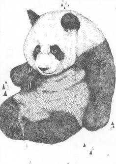 Panda Art Print by Rosepetaldeer | Society6