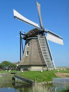 Polder mill De Cornwerdermolen, Cornwerd, The Netherlands