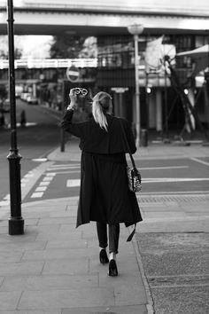 coat and heels