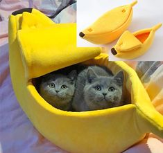 Small Pet Bed Banana Shape Fluffy Warm Soft Plush Breathable Bed Banana Cat Bed Warm Pet Products House Christmas Decor Home Pets, Pet Dogs, Dog Cat, Diy Cat Bed, Berber, Hamster, Unique Cats, Cat Supplies, Cat Toys