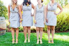 my bridesmaid's dress but in a different color