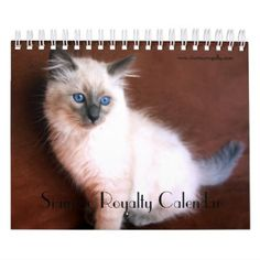 2018 Siamese Royalty Calendar - cat cats kitten kitty pet love pussy