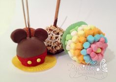 Manzanas decoradas con bonbon, chile, chocolate y caramelo