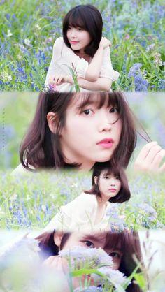 Iu Short Hair, Short Hair Styles, Cute Poses, K Idol, Natural Looks, Korean Beauty, Ulzzang Girl, My Beauty, Cute Wallpapers