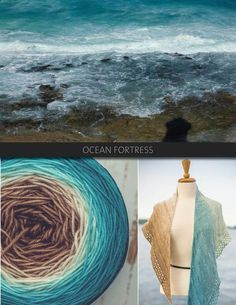 Ocean fortress is rich and natural, transitioning from ocean blue to cream to brown. The Blue Brick Ombré series is a collection of long-run gradient yarns, hand dyed to match photography, and objects from the natural world. This skein will ship with the photograph used as the main product image. Ombré yarns may be ordered in any of the bases listed below. Please note that these yarns are dyed-to-order, and that, from dyeing to delivery may take up to three weeks.    Escarpment DK 100%…