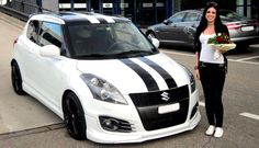 Suzuki Swift Tuning, Suzuki Swift Sport, Car Colors, Racing Stripes, Car Tuning, Rally Car, Car Wrap, Future Car, Mazda