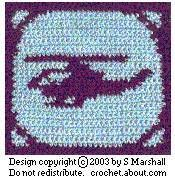 Helicopter Design Square For Aircraft Sampler Afghan Free Pattern Chart for Cross-Stitch and Crochet