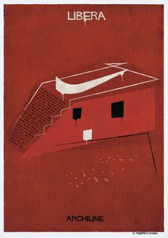 Gallery - Federico Babina's ARCHILINE Paints the Essence of Architecture's Greatest Works - 12