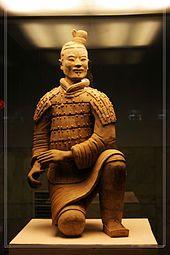 Guerrero de terracota del Mausoleo de Qin Shi Huang (siglo III a. C.).