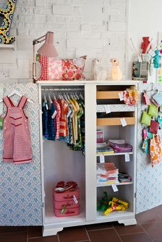 Mini wardrobe #baby #nursery #kids #girls #boys