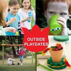 Need some fresh ideas to encourage outside play with friends? Check out these ideas via spoonful.