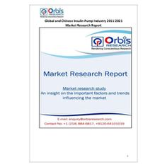 The ''Global and Chinese Insulin Pump Industry, 2011-2021 Market Research Report'' is a professional and in-depth study on the current state of the global Insulin Pump industry with a focus on the Chinese market.  Browse the full report @ http://www.orbisresearch.com/reports/index/global-and-chinese-insulin-pump-industry-2011-2021-market-research-report .  Request a sample for this report @ http://www.orbisresearch.com/contacts/request-sample/107044 .