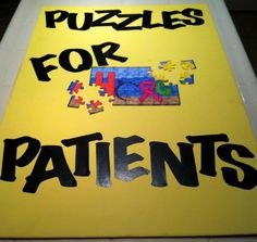 I can't wait to have the kids at our Relay For Life Kids Zone decorate the puzzles, break them apart, and seal the pieces in an envelope.  Then, I can only imagine the smiling faces when a child in the hospital receives a special envelope with a fun little activity! There's always one main thing that makes KZ extra-special for me. This year, it's Puzzles For Patients!