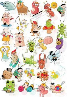 Cartoon Animals Vector Daquan 1 - FREE