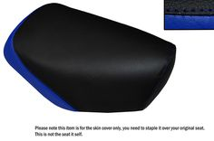 R BLUE & BLACK CUSTOM FITS YAMAHA JOG CG 50 LONG FRONT LEATHER SEAT COVER ONLY | eBay