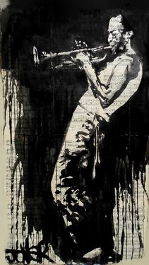 "Saatchi Online Artist Loui Jover; Drawing, ""miles"" #art"