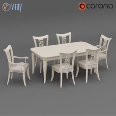 Table Chairs Dall Agnese 3D Model - 3D Model