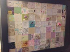 Wedding Cards Keepsake, Wedding Shower Cards, Wedding Keepsakes, Wedding Crafts, Wedding Decorations, Post Wedding, Wedding Ideas, Shadow Box Memory, Wedding Collage