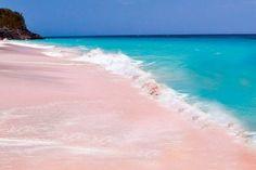La isla italiana sarda de Budelli,de arena rosa