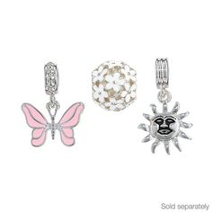 Big on charm! Begin a beautiful tradition with Avon's instant keepsake charms and jewellery. Sun, Flower ball and Butterfly Flower Ball, Cherished Memories, Jewelery, Charms, Fine Jewelry, Butterfly, Sun, Krishna, Flowers