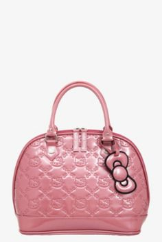 Loungefly - Hello Kitty Mauvewood Patent Embossed Bag