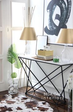 Marble Console Table For Your Entryway and How To Style It | BESA GM