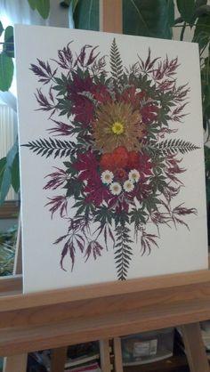 Pressed Flower Art on 16 x 20 Unframed Canvas by FlowerFelicity, $99.00