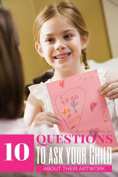 10 Questions to ask your child about their artwork. I love having this list as a reference for my child's school and artwork.