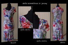 #abito asimmetrico in #jersey - 123 ricreo