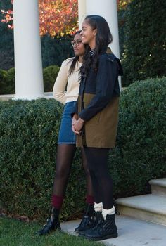 How cute are the outfits Sasha and Malia Obama wore over Thanksgiving weekend? Click to see the ultra-affordable brands both girls are wearing