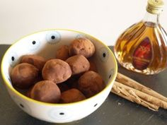 Healthy Chocolate Truffles with Quark - 16-20 calories a truffle, perfect when you just need a little treat on a fast day!