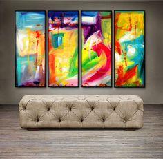 "'Be Still ' - 48"" X 30"" Original Abstract Art Painting"