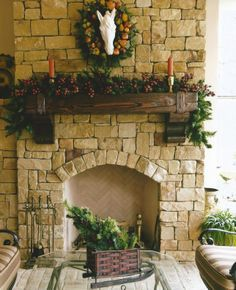 This outdoor mantel was custom made by Green Valley Beam & Truss Co. Such a unique yet cost efficient way to add to your outdoor living space!