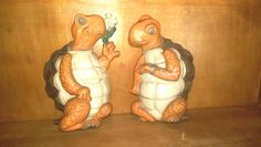 Vintage 1978 Turtle Plaques by Burwood Products Company Home Interior set of 2