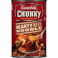 > Limited discounts available now: Campbell's Chunky Hearty Soup, Hearty Beef Noodle, 18.8 Ounce (Pack of 12) at Easy Dinner Meals.