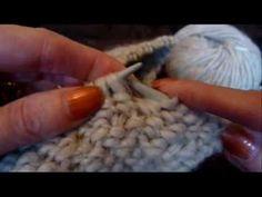 Knitting demo - sl 2  WYiF and sl 2 WYiB