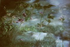 Beautiful French style floral painting...CLAIRE BASLER Textile