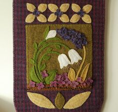 Wool applique PATTERN Easter wall hanging by HorseAndBuggyCountry