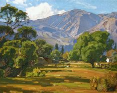 William Wendt     (Seeing the buildings/house & fence in the background…