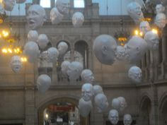 heads in museum