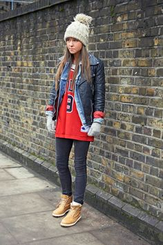 keeping it real with double jacketing and a beanie in London.